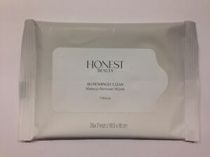 Honest Beauty Refreshingly Clean Makeup Remover Wipes - Travel Size (7 wipes)