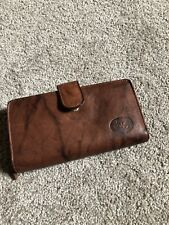 NWOT Brown Genuine Leather Wallet W/ Zipper And Snap