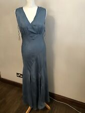 Principles - Aqua Marina V Neck Long Dress - Size 10