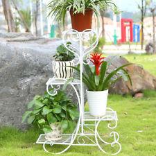 New ListingSolid Metal 4Tier Planter Floor Plant Stand Home Garden Living Room Pot Display