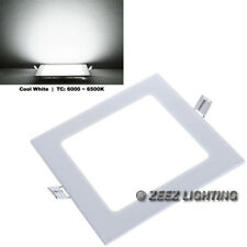 """Cool White 15W 8"""" Square LED Recessed Ceiling Panel Down Light Bulb Lamp Fixture"""