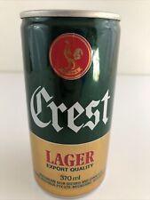 Crest Australian Lager Bottom Opened Pull Tab Beer Can