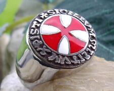 TEMPELRITTER KNIGHTS TEMPLAR TEMPLIER SIEGELRING RING CHEVALIERE GOLD SILBER