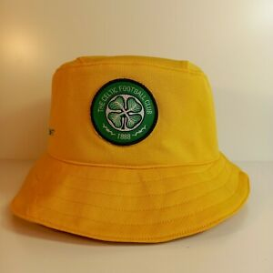 CELTIC Football Team Bucket Hat from Upcycled Nike Yellow Shirt