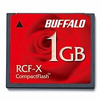 BUFFALO Compact Flash 1GB RCF-X1GY Free Shipping with Tracking# New from Japan