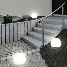 3er Set LED Solar Garten Leuchten Steck Weg Strahler Kugel Terrassen Lampen