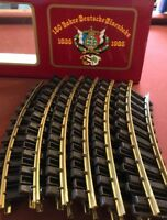 NEW - LGB G GAUGE Tracks (12) No. 1000 R-600-150th Anniversary Edition Curved