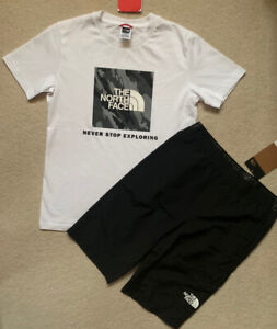 Boys The North Face Shorts + TShirt. 100%Authentic. New. Size LB. Age  14-15