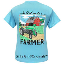 "Girlie Girl Originals ""Farmer"" Sky Blue Short Sleeve T-Shirt-2281"