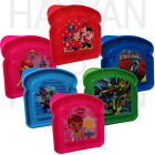 KIDS DISNEY SANDWICH SHAPED BOX  LUNCH SNACK BOX IDEAL FOR SCHOOL BOYS GIRLS FUN