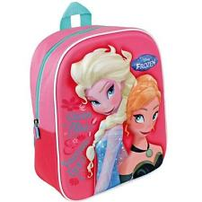 DISNEY FROZEN 3D ANNA ELSA GIRLS CHILDRENS PINK EVA BACKPACK RUCKSACK SCHOOL BAG