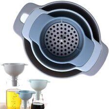 Imbuto da cucina – Imbuto nidificato con manico Confezione da 3 imbuti plastica