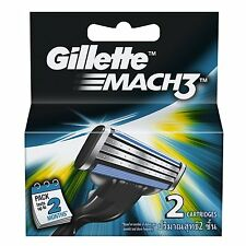 Gillette Mach3 Mach 3, 2 Cartridges, Shaving Blades Men's For Razor, Free Ship