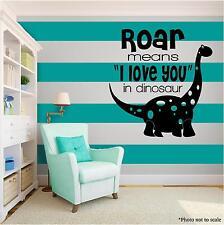 Roar Dinosaur KIDS Family Vinyl Wall Art quote Home Decor Decal Words Phrases