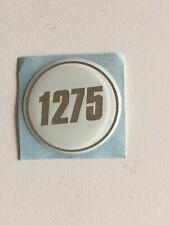 4 badge logo 1275 BLANC 47mm centre de jante Austin Mini Rover Cooper 1300 wheel