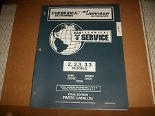 EVINRUDE OUTBOARD MOTOR BOAT ENGINE models 2, 2.3, 3.3 Illust. parts