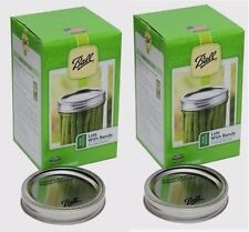 2 Boxes of 12 BALL Wide Mouth Bands w/ Dome Lids For Mason Jars Canning #40000