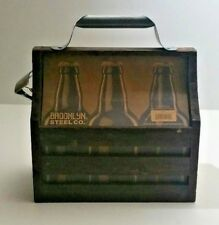 Brooklyn Steel Company Handcrafted Dark Wooden 6 Pack Beer Caddy with Opener