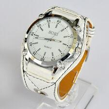 SOKI White Color Analog Quartz Sport Type Womens Ladies Wrist Band Watch