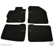 FIT FOR 2010-2011 TOYOTA PRIUS XW30 BLACK NYLON CARPET FLOOR MATS 4 PCS