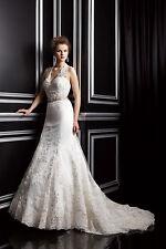 Jasmine Wedding Dress T142054 Size 6 Ivory NWT