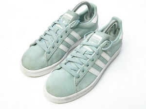 Adidas Campus Suede Trainers UK5.5 Green Lace Up BY9578 Womens Sneakers