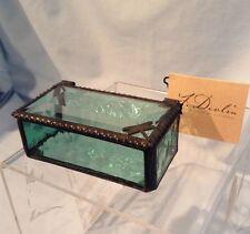 """J. Devlin Glass Box Sage Green w/ Dragonfly 3.25"""" x 1.75"""" x 1.75""""  $22.99"""