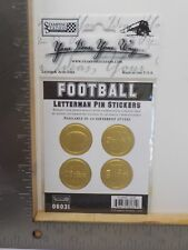 STAMPING STATION FOOTBALL GOLD LETTERMAN PIN DIMENSIONAL STICKERS A11675