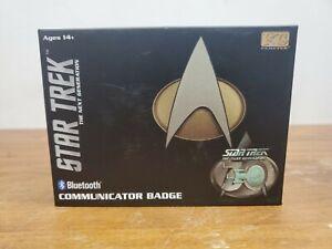 Star Trek Bluetooth Communicator Badge 30th Anniversary Version Used