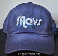 Dallas Mavericks Women's Crystal Bling Slouch Baseball Hat Cap