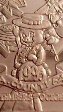 1995 LA COUNTY FAIR .999 SILVER ART COLLECTABLE BAR 1 TROY OZ Los Angeles