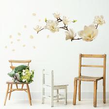 Walplus Wall Sticker White Magnolia Flower Art Decal Room Home Decorations