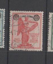 REGNO - 1924 - VITTORIA SOPRASTAMPATA 1 LIRA SU 10 C. USATO CENTRATISSIMO