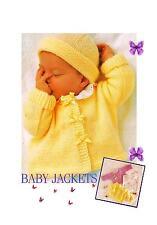 3 Vintage Knitting Patterns-PATTERNS ONLY-Baby's Sweater-Cardigan-Bolero-DK