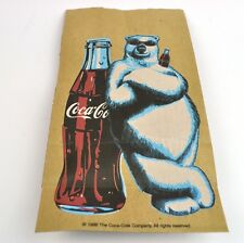 """Coca Cola Coke USA 1998 """"sandwich"""" Sac en papier Sac À Lunch cool L'ours polaire"""
