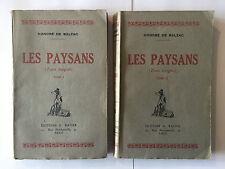 LES PAYSANS 2 VOL HONORE DE BALZAC SCENCES DE LA VIE DE CAMPAGNE