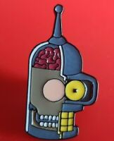 Futurama Bender Robot Anatomy Pin Enamel Brooch Lapel Badge Cosplay Gift TV
