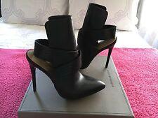 BCBG MAX AZRIA - NWB - Krimp Black Leather Booties - Size 8