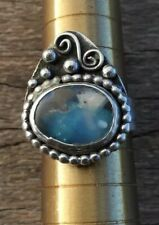 Solid Australian Bolder Opal Unique Sterling Silver Handmade Ring Sz10 .A16