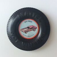 Hot Wheels Redline HTF Bye Focal Button Plastic Pin Badge HK 1970 W/ Tab Nice