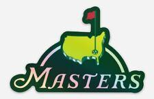Masters Golf Logo HOLOGRAPHIC Vinyl STICKER -  Decal Car Laptop Window Wall