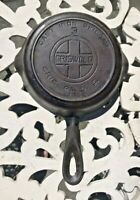 VINTAGE GRISWOLD #3 CAST IRON SKILLET BLOCK LETTERS WITH HEAT RING