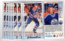 1X JASON ARNOTT 1993 94 Fleer Power Play #337 RC Rookie Lots Available TALL BOYS