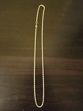 14K Yellow Gold Solid Diamond Cut Silk Rope Necklace 18 inches 3mm. 10 grams