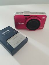 Canon Power Shot SX230 Pink 12.1 Mp w Charger & Battery
