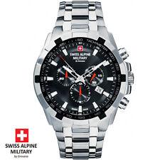 Swiss Alpine Military by Grovana 7043.9137 Chrono Black Silver Men's Watch