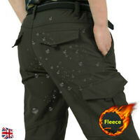 Men's Military Tactical Combat Trousers Thermal Fleece Lined Cargo Pants Outdoor