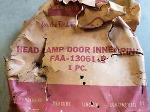 NOS 1952 1953 Ford Inner Headlight Ring Trim Head Lamp Bezel Customline Crestlin