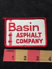 Vtg BASIN ASPHALT COMPANY Advertising Patch 89XA