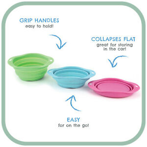 Beco Travel Bowl Collapsable design. 3 sizes 3 colours. Eco Friendly. Water/food